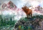 Elk Mixed Media - September Song by Sherry Shipley