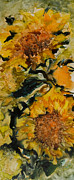 Sunflower Oil Paintings - September Sunflowers by Joanne Smoley