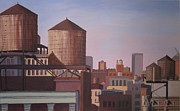 Nyc Rooftop Prints - September Sunrise Print by Gary Conger