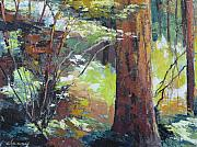 Northwest Landscape Mixed Media - September Woods by Melody Cleary