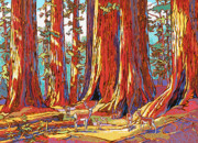 Sequoia Paintings - Sequoia Deer by Nadi Spencer