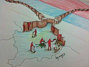 Caricature Drawings - Serbia block by Samedin Latifi