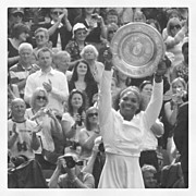 Sports Framed Prints - Serena Williams -Ladies Final at Wimbledon 2012 Framed Print by Lottie Hayden
