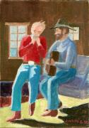 Cowboys Mixed Media - Serenade by Fred Jinkins