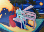 Music Lovers Painting Originals - Serenade by Victoria  Johns