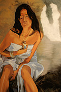 Meditation Paintings - Serene Contemplation by Kenneth Young