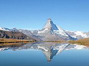 Zermatt Framed Prints - Serene Matterhorn Framed Print by Monica and Michael Sweet