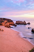 Algarve Posters - Serene Pastel Shores Poster by Monica and Michael Sweet