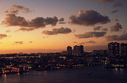 Miami Skyline Digital Art Posters - Serene Sky Poster by C S