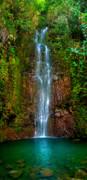 Serene Waterfall Print by Monica and Michael Sweet