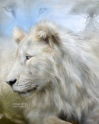 White Cat Art Mixed Media - Serengeti Spirit by Carol Cavalaris