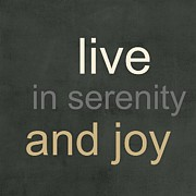 Verse Posters - Serenity and Joy Poster by Linda Woods