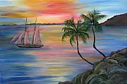Serenity Bay Print by Mikki Alhart