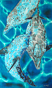 Dolphin Tapestries - Textiles - Serenity by Daniel Jean-Baptiste
