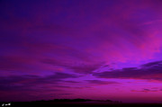 Purple Clouds Prints - Serenity Print by Ed Smith