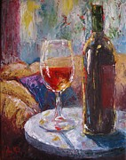 Wine Bottle Paintings - Serenity by Jane MIck