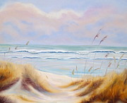 Sea Oats Pastels Framed Prints - Serenity Framed Print by Linda Kriegel