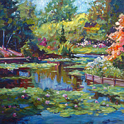 Impressionism Art - Serenity Pond by David Lloyd Glover