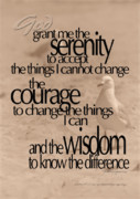Serenity Prayer 04 Print by Vicki Ferrari