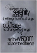 Serenity Prayer Framed Prints - Serenity Prayer 05 Framed Print by Vicki Ferrari