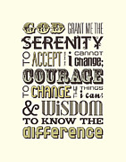 The Serenity Prayer Posters - Serenity Prayer Poster by Megan Romo