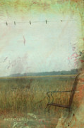 Country Cottage Mixed Media Prints - Serenity Zen Landscape Print by adSpice Studios
