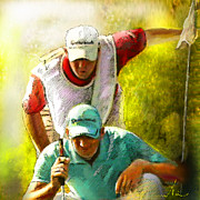 Sports Mixed Media - Sergio Garcia in the Madrid Masters by Miki De Goodaboom