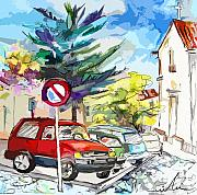 Travel Sketch Prints - Serpa  Portugal 02 bis Print by Miki De Goodaboom