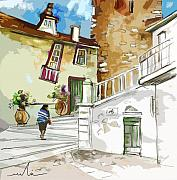 Travel Sketch Prints - Serpa  Portugal 03 bis Print by Miki De Goodaboom