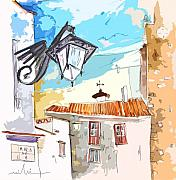 Travel Sketch Framed Prints - Serpa  Portugal 09 bis Framed Print by Miki De Goodaboom
