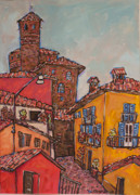 Piedmont Paintings - Serralunga dAlba by Leslie Alexander