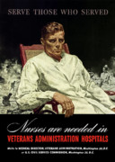 Nurses Framed Prints - Serve Those Who Served Framed Print by War Is Hell Store