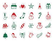 Christmas Star Posters - Service Icon Set Poster by Eastnine Inc.