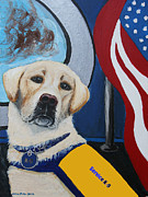 Memorial Day Mixed Media - Service K9 by Ania M Milo