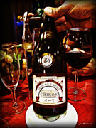 Pouring Wine Photos - Serving Time by Joan  Minchak