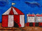 Circus Tent Framed Prints - Set My Circus Down Framed Print by Kerri Ertman