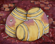 Winery Paintings - Set Quintai by Leslie Alexander