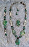 Malachite Jewelry - set Summer Time by Olga Bejue