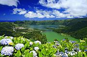 Beautiful Scenery Framed Prints - Sete Cidades crater Framed Print by Gaspar Avila