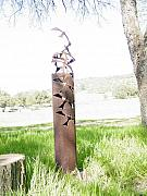 Rust Sculptures - Setfree SOLD by Steve Mudge