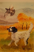 Lynn Beazley Blair - Setter with quail