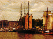 Tall-ships Framed Prints - Setting Sail From Bristol Framed Print by Brian Roscorla