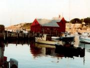 Rockport  Ma Paintings - Setting Sun by Paul Sachtleben