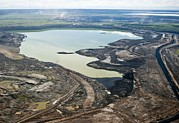 Land Reclamation Prints - Settling Pond, Athabasca Oil Sands Print by David Nunuk