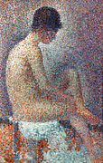 1887 Prints - Seurat: Model, 1887 Print by Granger