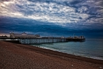 Chris Lord Metal Prints - Seven AM on Brighton Seafront Metal Print by Chris Lord