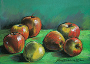 Apple Pastels Posters - Seven Apples Poster by EMONA Art