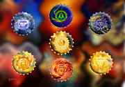 (zazzle) Digital Art - Seven Chakras by Saleires Art