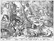 Pieter Prints - Seven Deadly Sins, 1557 Print by Granger