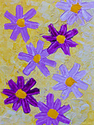 Acrylic Art Posters - Seven Flowers Poster by Heidi Smith